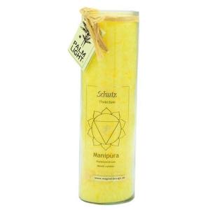 chakra-kerze ca 20 cm gelb palm light palmlicht bei Lichtquelle online kaufen