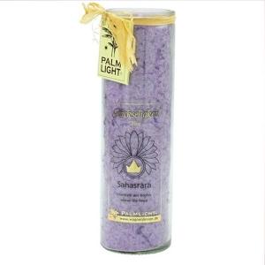 chakra-kerze ca 20 cm violett palm light palmlicht bei Lichtquelle online kaufen