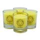 chakra-kerze ca 6 cm 4er-set gelb palm light palmlicht bei Lichtquelle online kaufen
