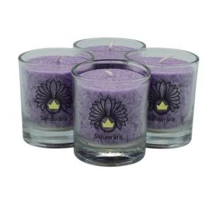 chakra-kerze ca 6 cm 4er-set violett palm light palmlicht bei Lichtquelle online kaufen