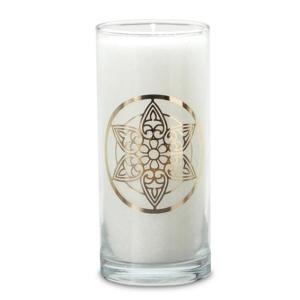 magische kerze weiß mandala palm light palmlicht bei Lichtquelle online kaufen